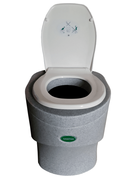 Portable dry toilet Sanitoa in Granite